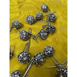 Botones de filigrana de plata. Tipo charro, o manzaneta.