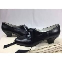 Zapatos de cuero, negros