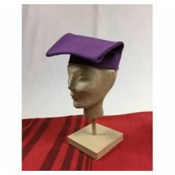 Gorra llarga de paño morado