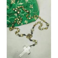 Antiguo rosario de nácar,...
