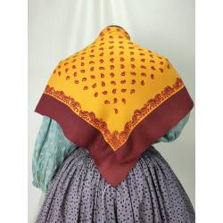 Pañuelo antiguo estampado
