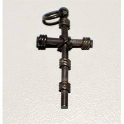 Antigua cruz de plata.