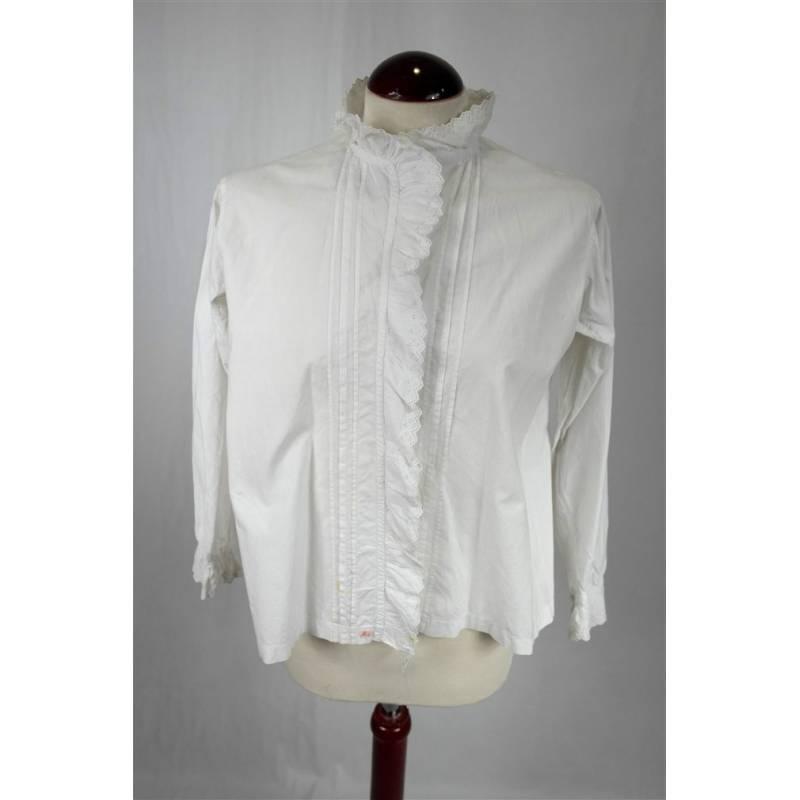 Camisa blanca de algodón
