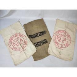Lote de tres sacos antiguos
