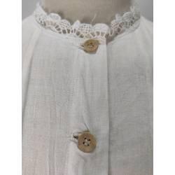 Antigua camisa de algodón