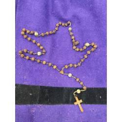 Antiguo rosario de semillas...