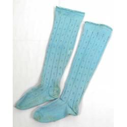 Antiguas medias de algodón azul